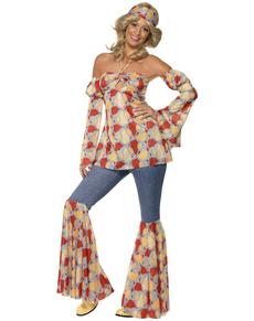 Déguisement d'hippie vintage pour femme