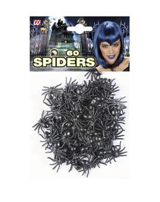 Ensemble de 60 araignées noires