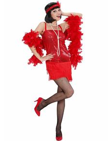 Déguisement cabaret année 20 rouge femme