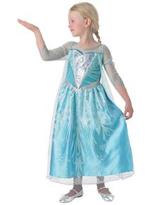 Costume Elsa La Reine des Neiges Premium fille