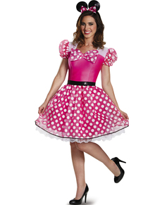 Costume Minnie Mousse rose glam femme