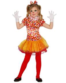 Déguisement clown coloré fille