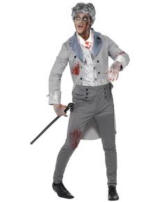 Déguisement d'époque zombie homme