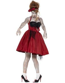 Déguisement rockabilly zombie femme