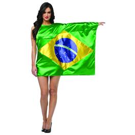 Déguisement drapeau Brésil femme