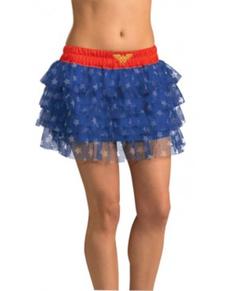 Jupe paillettes Wonder Woman adolescente
