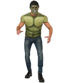 Kit Costume musclé Hulk homme