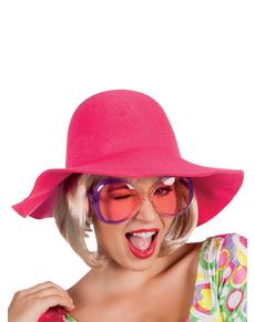 Grand chapeau rose femme