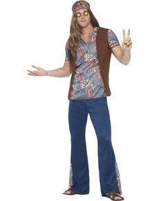 Déguisement hippie festival homme