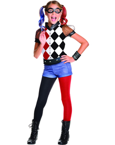 Costume Harley Quinn Classic deluxe fille